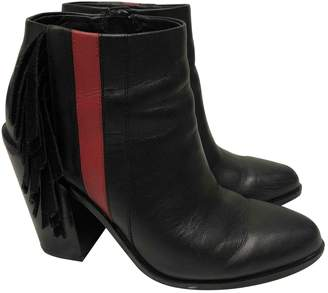 Senso \N Black Leather Ankle boots