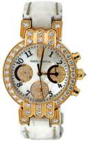 Harry Winston 200/UCQ32RL.MD.D3.1 18K Rose Gold & Leather with Diamond Quartz 32mm Womens Watch