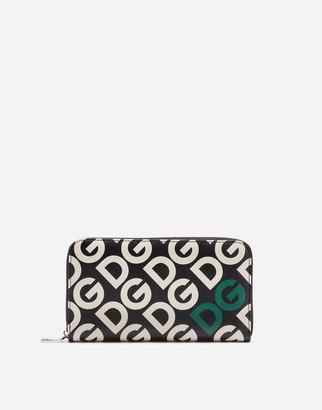 Dolce & Gabbana Dauphine Calfskin Zip Around Wallet With Mania Print