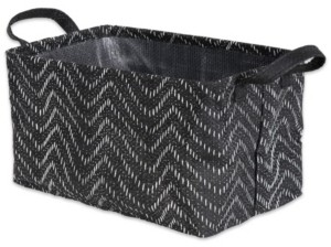 Design Imports Polyethylene Coated Woven Paper Laundry Hamper Tribal Chevron Rectangular
