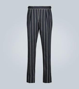 Lardini Striped linen-blend pants