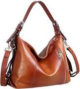 Heshe Women's Vintage Shoulder Bags Leather Handbags Tote Purse Cross-body Bags Large Capacity
