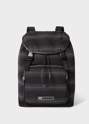Paul Smith Men's Black 'White Noise' Canvas Backpack