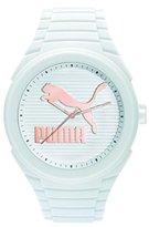 Puma 'PU10359 Gummy Cat' Quartz Plastic and Silicone Casual Watch, Color:White (Model: PU103592017)