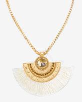 White House Black Market Fabric Fan Pendant Short Necklace