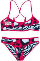 Kenzo animal print two-piece swimsuit