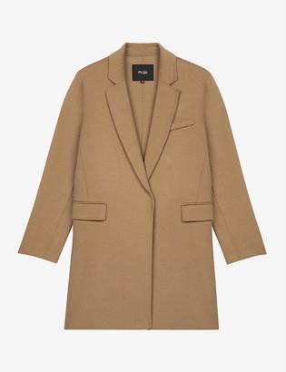 Maje Galami straight-cut wool-blend coat