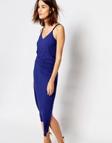Warehouse Strappy Back Midi Dress