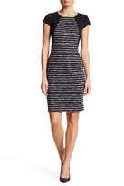 London Times Space Dye Knit Sheath Dress (Petite)