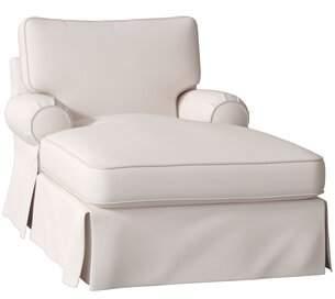 Wayfair Custom UpholsteryTM Lily Slipcovered Chaise Lounge Wayfair Custom UpholsteryTM