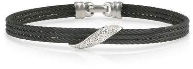 Alor 18K Gold Black Stainless Steel & Diamond Bracelet - 0.10 ctw