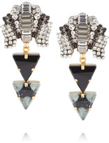 Swarovski VICKISARGE Silver and gold-plated crystal earrings