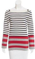 Chanel Striped Cashmere Top