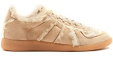 Maison Margiela Replica low-top shearling-lined trainers