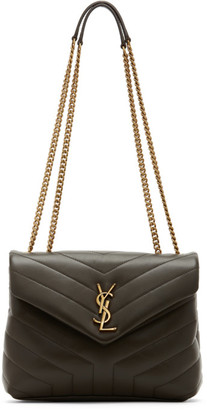 Saint Laurent Green Small Loulou Bag