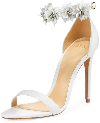 Alexandre Birman Ditsy Flower Leather Sandal