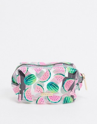 Skinnydip mini makeup bag in watermelon print