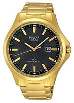 Pulsar Men's Solar Goldtone Stainless Dress Watch