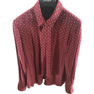 Max Mara Weekend Burgundy Silk Top for Women
