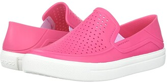 Crocs CitiLane Roka (Toddler/Little Kid) (Paradise Pink/White) Kid's Shoes