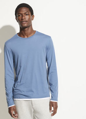 Vince Double Layer Long Sleeve Crew