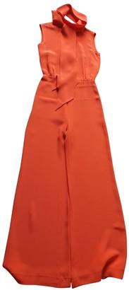 Celine Orange Silk Jumpsuits