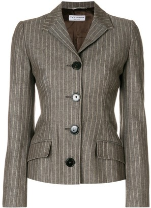 Dolce & Gabbana Pre Owned Fitted Pinstripe Jacket