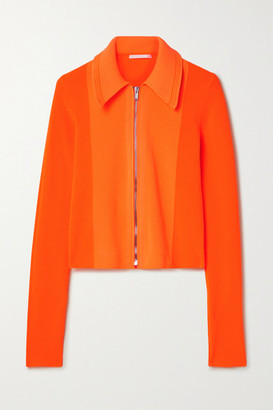 Helmut Lang Neon Ribbed-knit Cardigan - Orange