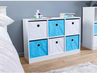 Lloyd Pascal 6 Cube Storage Unit Blue/White