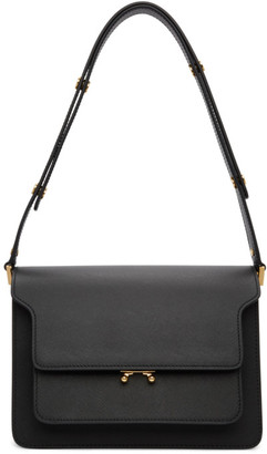 Marni Black Saffiano Medium Trunk Bag