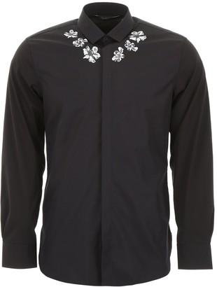 Neil Barrett Floral Printed Button-Up Shirt