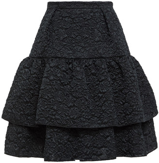Erdem Aine Tiered Matelasse Mini Skirt