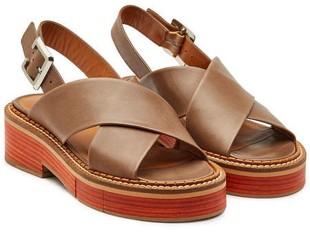Clergerie Anchor Leather Sandals