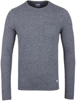 Cp Company Grey Marl Wool Blend Sweater