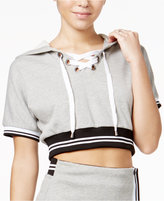 The Edit By Seventeen Lace-Up Cropped Hoodie, Only at Macy's