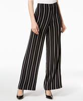 Nine West Striped Wide-Leg Pants