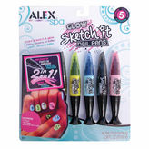 Alex Spa Glow Sketch It Nail Pens 5-pc. Beauty Toy