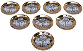 One Kings Lane Vintage Fornasetti Roman Charriot Coasters - Set of 8 - Cannery Row Home - gold/multi