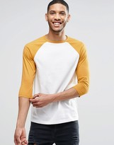 Asos 3/4 Sleeve T-Shirt With Contrast Raglan