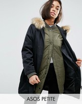 Asos 3 in 1 Parka with Ribbed Collar