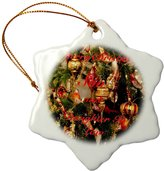 3dRose Print of Merry Christmas for Son and Daughter In Law - Snowflake Ornament, Porcelain, 3-Inch (orn_220992_1)