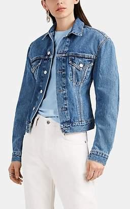 Helmut Lang Women's Contoured Denim Trucker Jacket - Blue