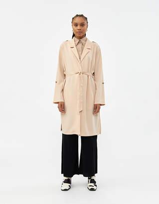 BEIGE Stelen Women's Mai Trench Coat in Light Beige, Size Small | Spandex