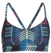 Mara Hoffman Voyager-print cross-back performance bra