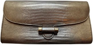 Saint Laurent Muse Metallic Leather Clutch bags