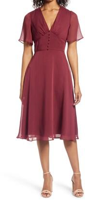 Chi Chi London Jaslene Fit & Flare Dress