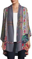 Johnny Was Romishka Silk Kimono Jacket, Plus Size