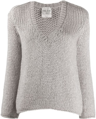 Forte Forte chunky knit deep V-neck jumper