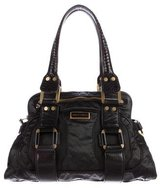 Jimmy Choo Leather-Trimmed Nylon Bag
