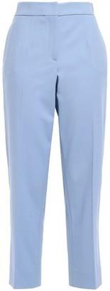 Oscar de la Renta Cropped Wool-blend Twill Straight-leg Pants